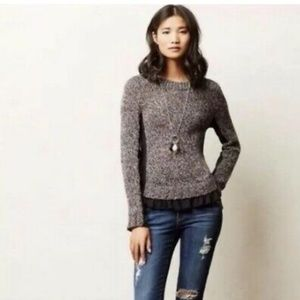 Moth sweater XL Anthropologie Aspara oatmeal color